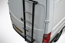 Fiat Ducato 1994 - 2006 Rear Door Ladders - Galvanised 6-step ladder  1530 mm long L1, L2, L3H2 Twin Door Model