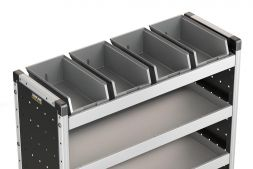4x Plastic Bins & Rubber Matting 920mm (to fit 1000mm racking)