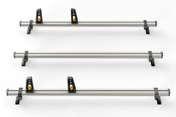 Fiat Doblo 2010 on Roof Bars - 3x ULTI Bars L1, L2H1