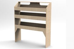 3 shelf unit - 300mm depth VL100/L/3 Birch plywood