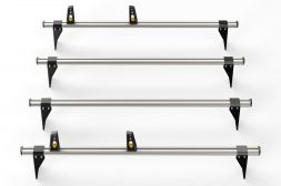 Ford Transit 2000 - 2014 Roof Bars - 4x ULTI Bars - 190mm brackets L2, L3H2
