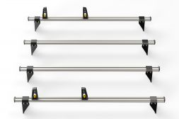 Ford Transit 2000 - 2014 Roof Bars - 4x ULTI Bars - 130mm brackets L1, L2H1