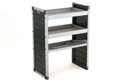 Single Van Racking Unit - 1000mm (H) x 750mm (W) - 2 Straight Shelves & 1 Angled Shelf