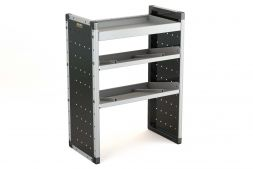 Single Van Racking Unit - 1000mm (H) x 750mm (W) - 1 Straight Shelf & 2 Angled Shelves