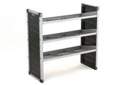 Single Van Racking Unit - 1000mm (H) x 1000mm (W) - 3 Angled Shelves