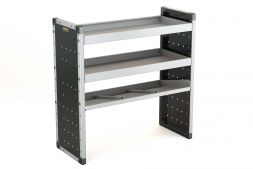 Single Van Racking Unit - 1000mm (H) x 1000mm (W) - 2 Straight Shelves & 1 Angled Shelf