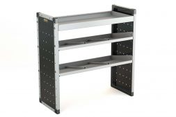Single Van Racking Unit - 1000mm (H) x 1000mm (W) - 1 Straight Shelf & 2 Angled Shelves