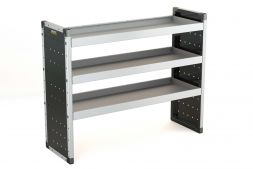 Single Van Racking Unit - 1000mm (H) x 1250mm (W) - 3 Straight Shelves