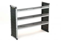Single Van Racking Unit - 1000mm (H) x 1250mm (W) - 3 Angled Shelves