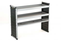 Single Van Racking Unit - 1000mm (H) x 1250mm (W) - 2 Straight Shelves & 1 Angled Shelf