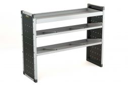 Single Van Racking Unit - 1000mm (H) x 1250mm (W) - 1 Straight Shelf & 2 Angled Shelves