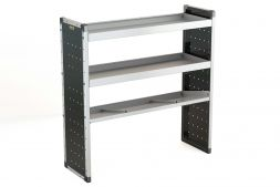 Single Van Racking Unit - 1250mm (H) x 1250mm (W) - 2 Straight Shelves & 1 Angled Shelf