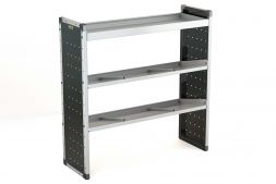 Single Van Racking Unit - 1250mm (H) x 1250mm (W) - 1 Straight Shelf & 2 Angled Shelves