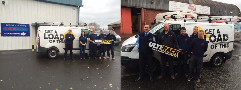 Equipavan in Prestwick (L) & Vanax in Glasgow (R)