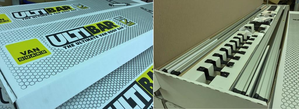 Van Guard Roof Bar Packaging