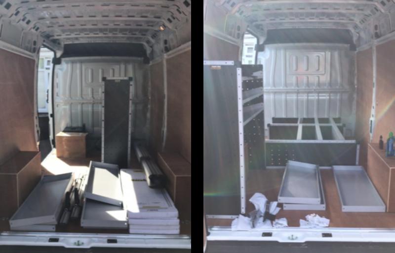 Trade Van Racking install