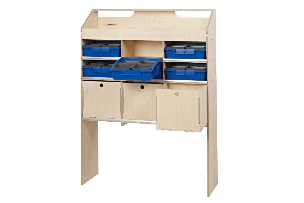 wooden internal van racking unit